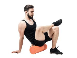 Foam-roller-glutes-and-hamstrings