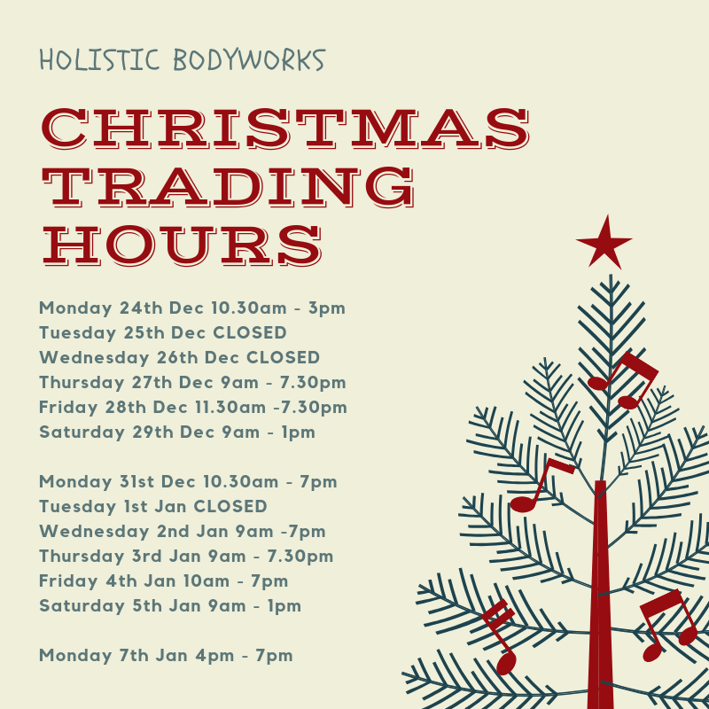 Image depicting Holistic Bodyworks Christmas Trading Hours