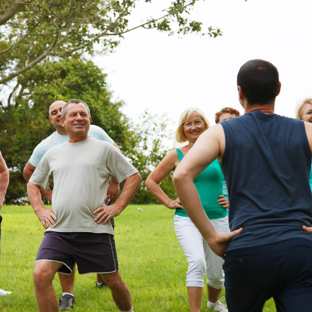 A group of people with Diabetes exercising