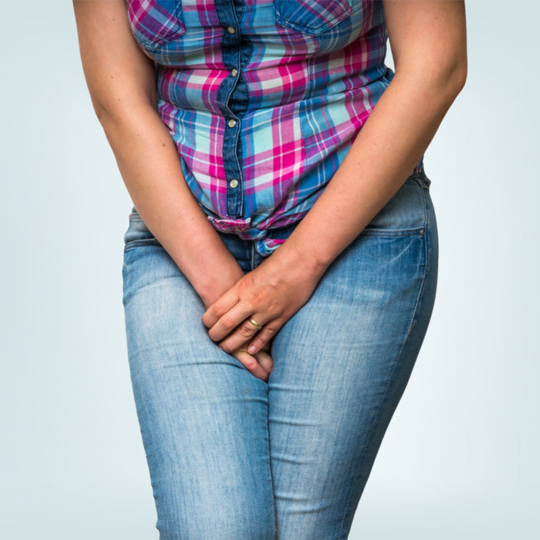 Image showing a woman with urinary incontinence